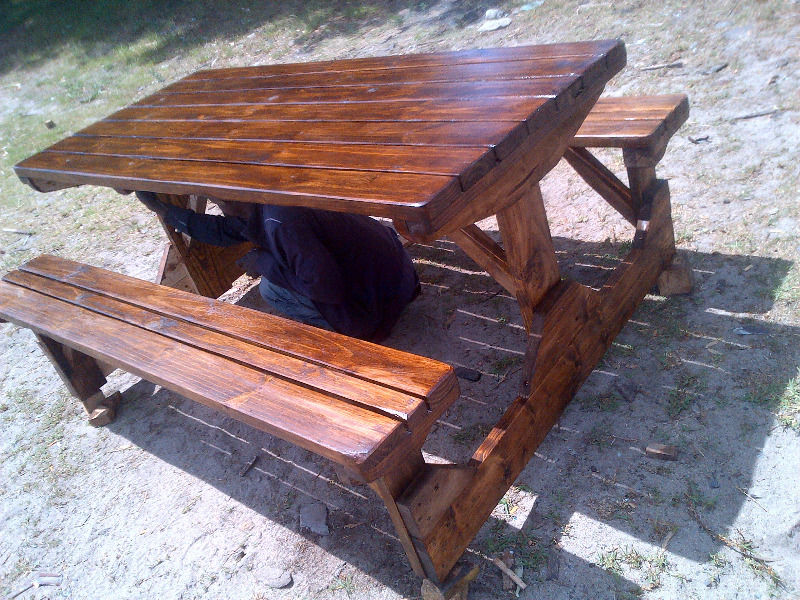 Wooden Patio Bench ~ Outdoor furniture benches garden patio