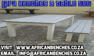 hotel benches, park benches, benches for drinking