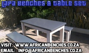 lapa benches & Table Set
