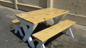 garden benches, picnic furniture