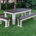 Patio Benches Set