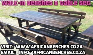 picnic benches, garden benches, outdoor benches