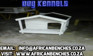 dog kennel with a verandah and benches