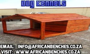 outdoor kennels and benches, wooden benches and kennels